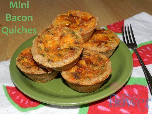 mini bacon quiches
