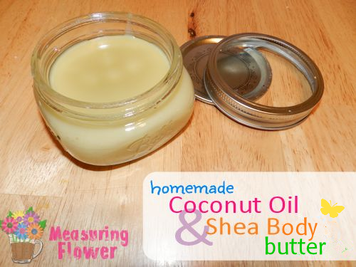 Homemade Coconut Oil and Shea Body Butter