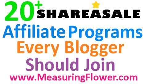 20 Sharasale Programs Every Blogger Should Join - Measuring Flower