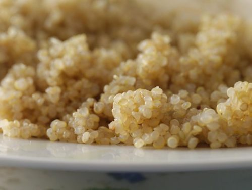 Here's the finished product – light, fluffy quinoa.