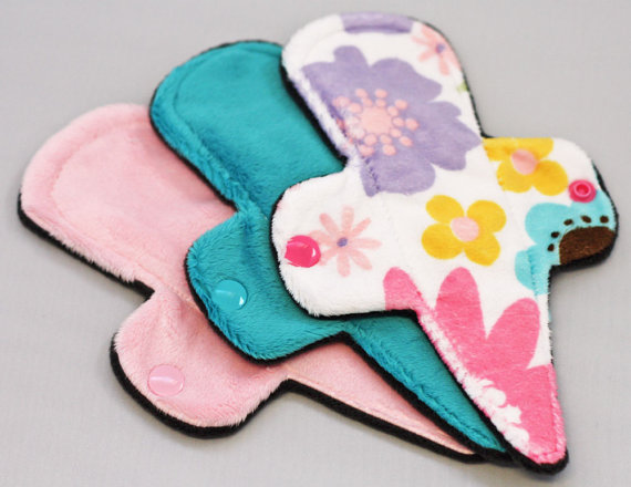 There are even cloth pads designed to go on thongs nowadays such as this one from the Pink Lemondae Shop.