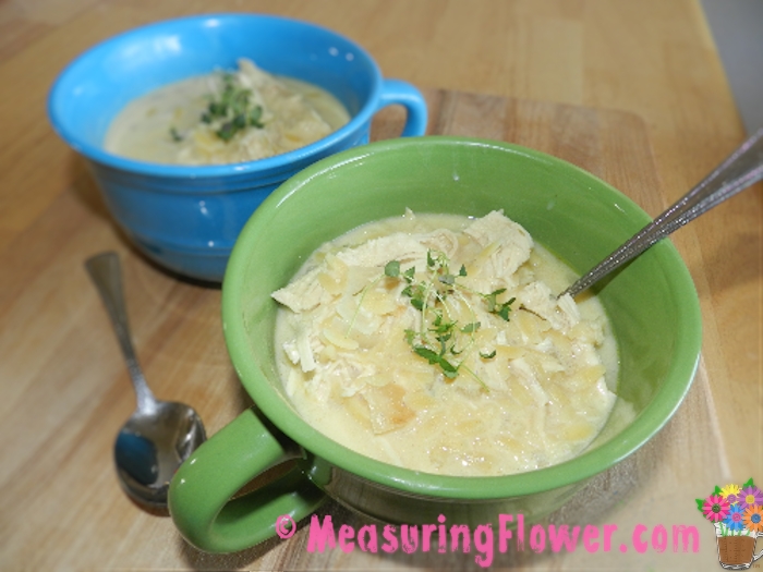 Chunky Chicken Avgolemono Soup_MeasuringFlower.com