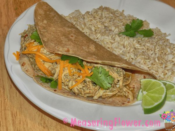 Slow Cooker Chicken Tacos - Measuring Flower