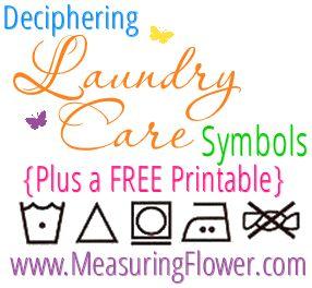 Deciphering Laundry Care Symbols Plus A Free Printable Measuring Flower