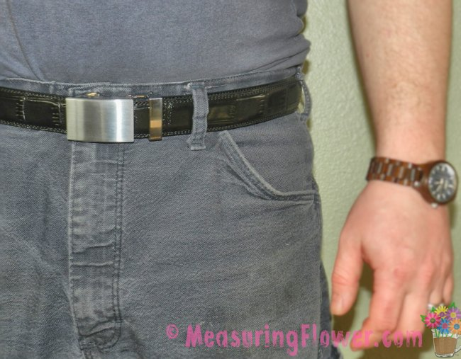 The belts look great on the Mister. They look very sharp, especially since there aren't any stretched or worn out holes!