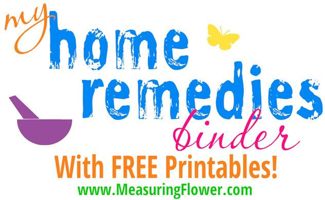 My Home Remedies Binder with FREE Printables--MeasuringFlower.com