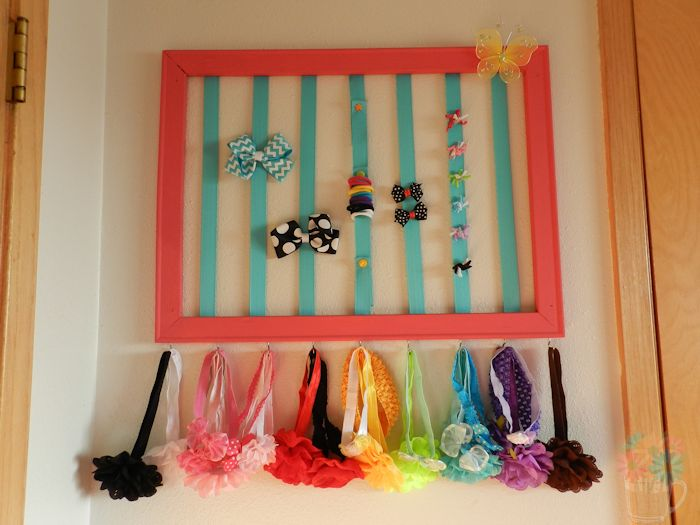 DIY Head Bow Organizer for Baby and Little Girls--MeasuringFlower.com
