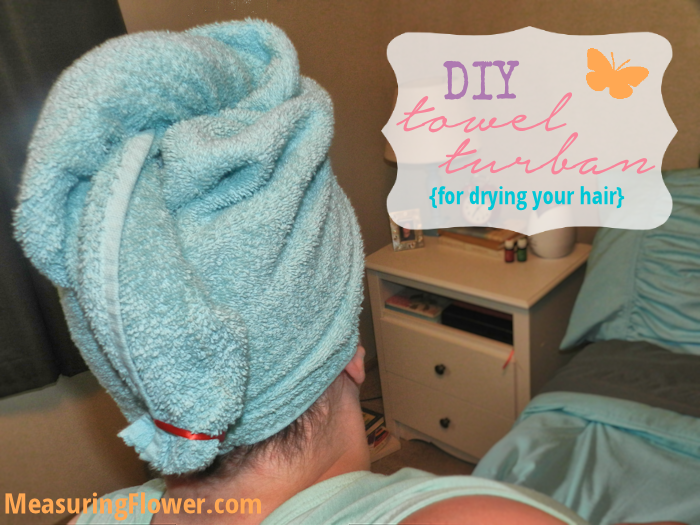 DIY Towel Turban for Drying Your Hair
