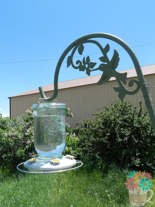 mason jar feeder