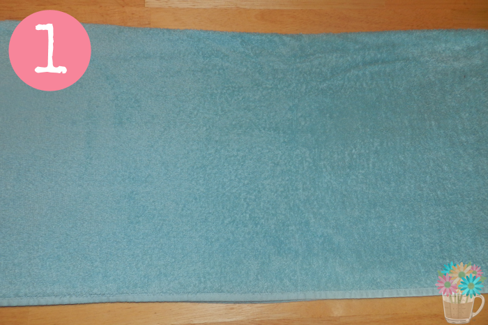 step 1 fold towel