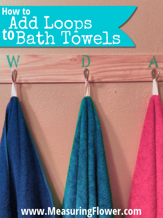 How to Add Loops to Bath Towels V