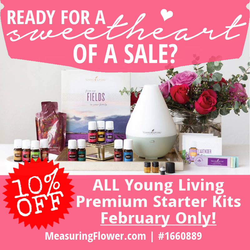 SALE ALERT!!!! ALL Young Living Premium Starter Kits are 10% off for the month of February!
