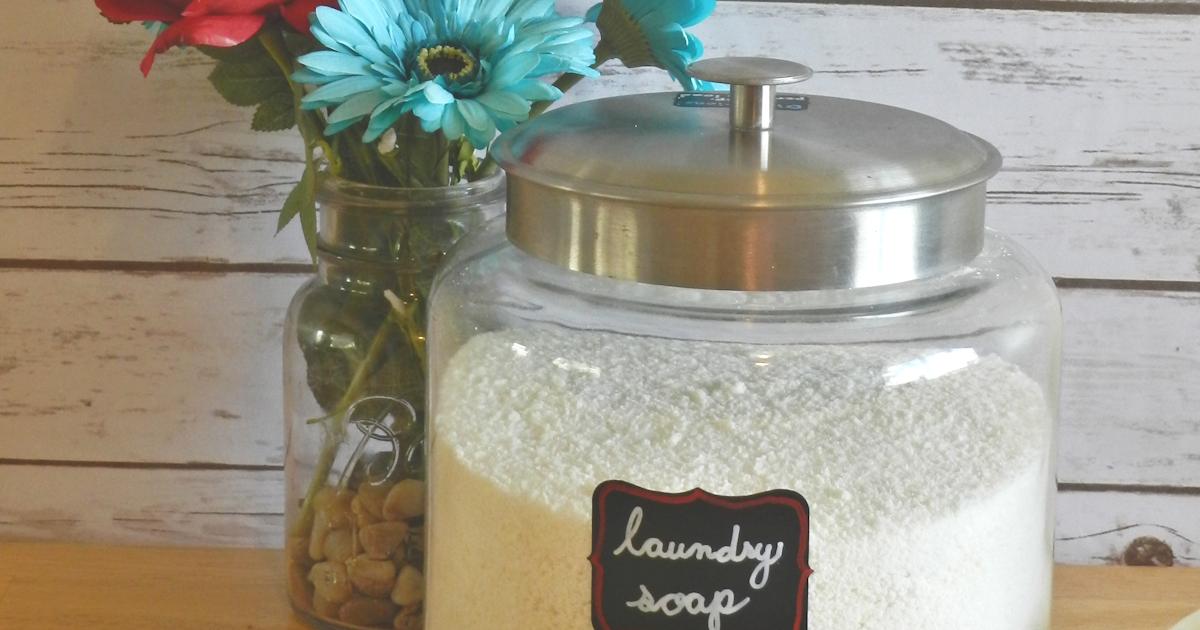 DIY Laundry Soap {Fels-Naptha & Borax Free}–Improved Recipe!